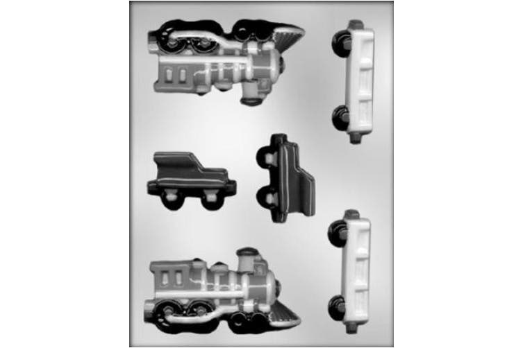 CK Products 11.4cm 3-D Train Engine and Railcars Chocolate Mould