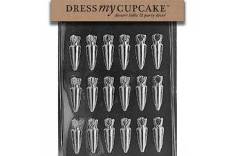 Dress My Cupcake DMCE438 Chocolate Candy Mould, Small Carrots, Easter