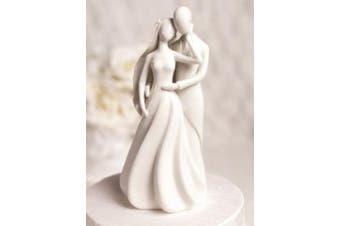 (Silhouette of Love Cake Topper Figurine) - Silhouette of Love Wedding Cake Topper