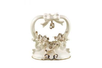 Hortense B. Hewitt Wedding Accessories, Cake Top, Porcelain, 50th Anniversary, 11.4cm Tall