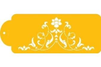 Florentine Scroll Cake Stencil by Designer Stencils by Designer Stencils