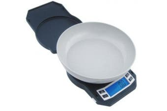 (3000g Capacity) - American Weigh LB3000 Compact Digital Scale with Removable Bowl, 3000 by 0.1g