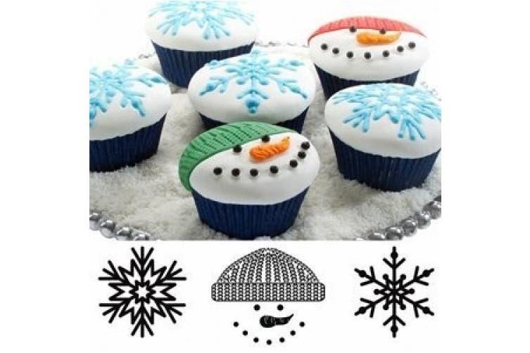 Autumn Carpenter Designs Cupcake Top Impression Mat Set - Winter