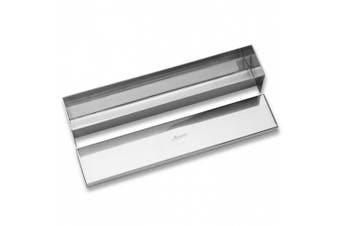Ateco Stainless Steel Flat Bottom Terrine Mould with Cover, 11.75- by 5.7cm