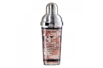Oggi 7314 440ml Glass and Stainless Steel Cocktail Shaker