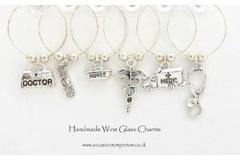 Medic Themed Wine Glass Charms