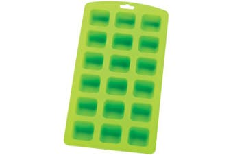 (18 Hole) - HIC Silicone Ice Cube, Chocolate, Candy, Baking and Craft Mould, Non-Stick Heat-Resistant Fun Novelty Shapes, 18 Square Holes, 23cm by 11cm