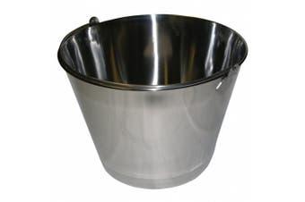 Vestil BKT-SS-325 Stainless Steel Bucket, 25.4cm Depth, 12.3l Capacity