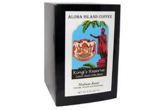 Kona Smooth Kings Reserve MEDIUM Roast Hawaiian Coffee Pods for Senseo, Bunn & All Pod Brewers, 18 Coffee Pods