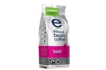 (Bold, Whole Bean, 350ml) - Ethical Bean Coffee Bold, Dark Roast, Whole Bean, 350ml Bag