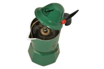 Bialetti – 2762 – Alpina – Espresso Maker for 3 Cups Aluminium Green