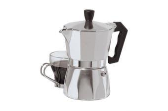 (Silver) - Oggi 6570.0 3 Cup Cast Aluminium Stovetop Espresso Maker, Silver