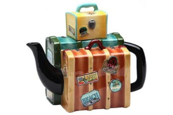 Appletree Design Road Trip Luggage Teapot, 14cm