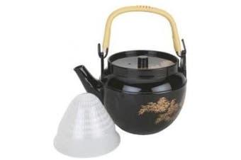 (BlackTeapot-1120ml) - Plastic Melamine Teapot Black 1120ml #wh-10-3