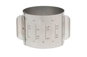 (Round, Adjustable) - HIC Harold Import Co. 93235 Adjustable Food Ring, Square, 18/8 Stainless Steel, Adjusts to 4 Different Sizes