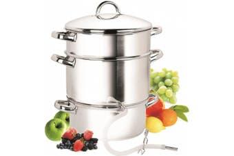 (Stainless Steel) - Cook N Home NC-00256 10.4l Stainless-Steel Juicer Steamer