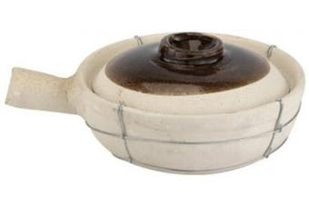 Paderno World Cuisine 1.9l Single-Handled Unglazed Clay Cooking Pot