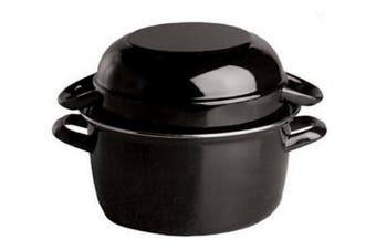 (1kg) - Paderno World Cuisine 1kg Capacity Enamel Steel Mussel Pot