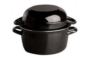 Paderno World Cuisine 1.5kg Capacity Enamel Steel Mussel Pot