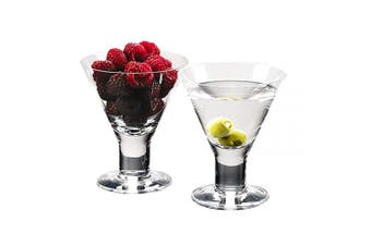 Caprice - Set of 4 Mouth blown Lead Free Crystal Martini or Dessert Servers - 180ml H4.13cm