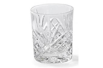 Dublin 240ml Leaded Crystal Double Old Fashioned Whiskey Glasses, Set of 4