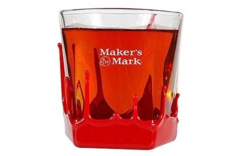 Maker's Mark Bourbon Wax Dipped Snifter Glass | Set of 2 Glasses