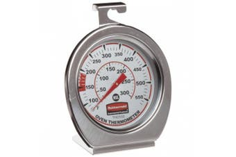 (Oven/Grill/Smoker Thermometer) - Rubbermaid Commercial Stainless Steel Oven Monitoring Thermometer