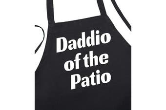 Daddio of The Patio BBQ Chef Aprons for Men, Black, One Size Fits Most