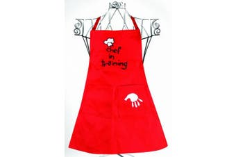 Manual Woodworkers and Weavers Child's Chef in Training Apron Red