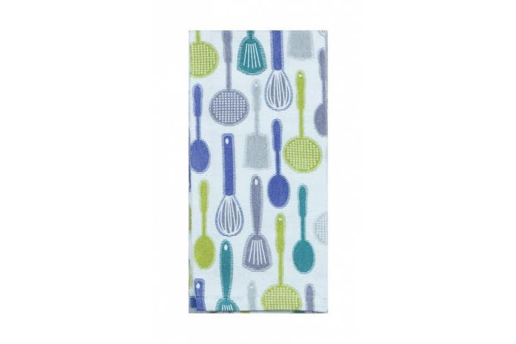 Kay Dee Designs Printed Cotton Terry Towel, 40.6cm by 66cm , Blue Kitchen Utensils