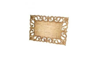 Abigails Vendome Rectangular Antiqued Gold Leaf Placemat