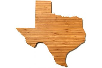(Texas) - AHeirloom: The Original Texas State Shaped Serving & Cutting Board. (As Seen in O Magazine, Good Morning America, Real Simple, Brides, Knot.) Made in the USA from Organic Bamboo, Large 38cm