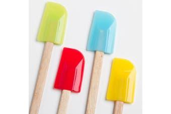 Cook's Corner 4-Piece Spatula Set - Assorted Colours
