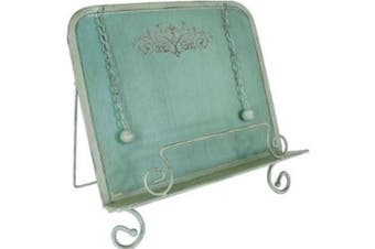 Creative Co-op Green Metal Cookbook Holder
