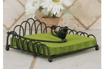 Curled Wire Napkin Holder with Bird