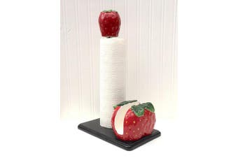 3D Strawberry 2 Piece Paper Towel and Napkin Holder Set