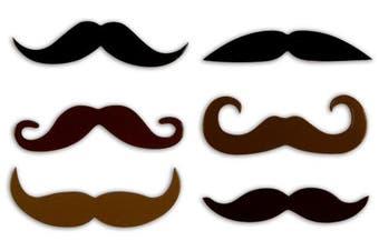 (Mustache) - Kikkerland Moustache Magnet, Set of 6