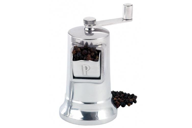 (Pepper Mill) - Perfex 2460 Adjustable Pepper Grinder Mill, Made in France, High-Carbon Steel Mechanism, 11cm , Silver