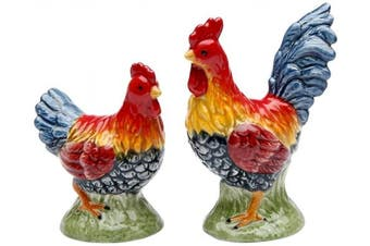 Appletree Design Barn Yard Rooster Salt and Pepper Set, 6.4cm , 5.1cm