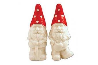 Garden Gnome Salt & Pepper Shaker Set - Handpainted Ceramic Collectibles