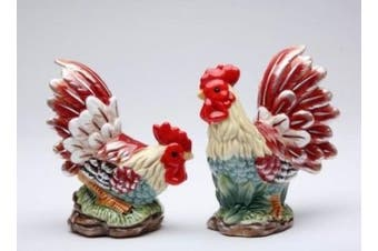 Appletree Design A Day In The Country Rooster Salt and Pepper Set, 11.4cm , 11.1cm