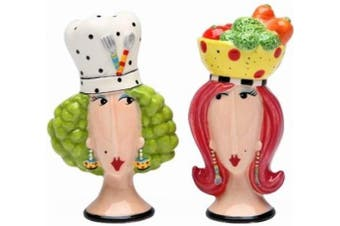 Appletree Design Chef and Lady Salt and Pepper Set, 10.2cm