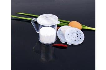 New Star Foodservice 22513 3 lids Dredge 90ml Clear