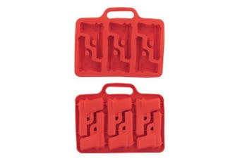 (Red) - Leegoal Ice Cube Mould Mould Tray DIY Stylish Gun Shaped(Red)
