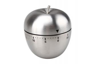 Stainless Steel Apple Shape 60 Minute Kitchen Cook Cooking Timer