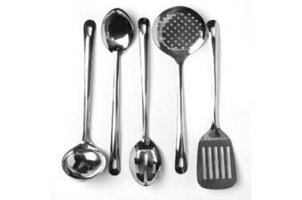 Cook's Corner 5-Piece Stainless Steel Kitchen Utensil Set