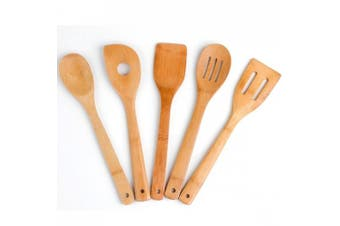 Cook's Corner 5-Piece Bamboo Kitchen Utensil Set