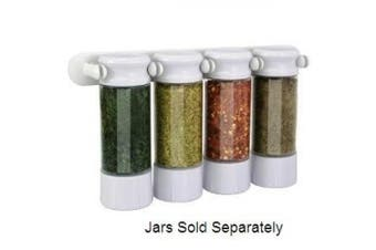 KitchenArt Spice Jar Clip Rack, White
