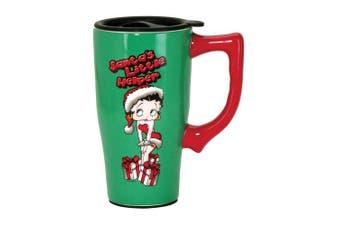 Betty Boop 12188 Christmas, Green Santa Travel Mug, 13cm x 8.9cm x 17cm ,