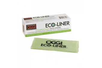 (1, Green) - Oggi Eco-Liner Compost Pail Liners